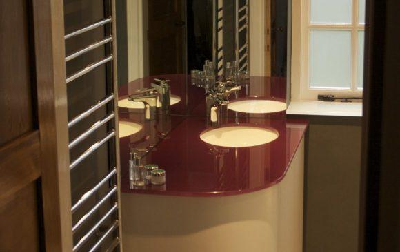 glazed vanity unit
